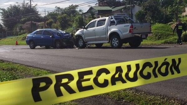 Adrián Solano Rodríguez, de 59 años, murió en un accidente en Aguas Zarcas de San Carlos. Foto: Edgar Chinchilla, corresponsal GN