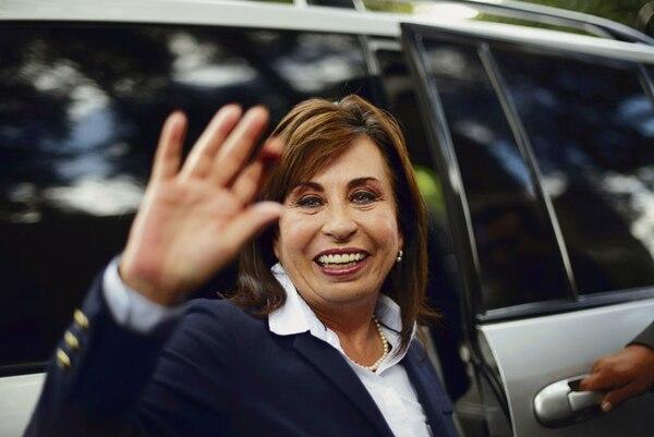 La candidata a la presidencia de Guatemala por la Unión Nacional de la Esperanza, Sandra Torres, después de votar en un colegio electoral en la ciudad de Guatemala