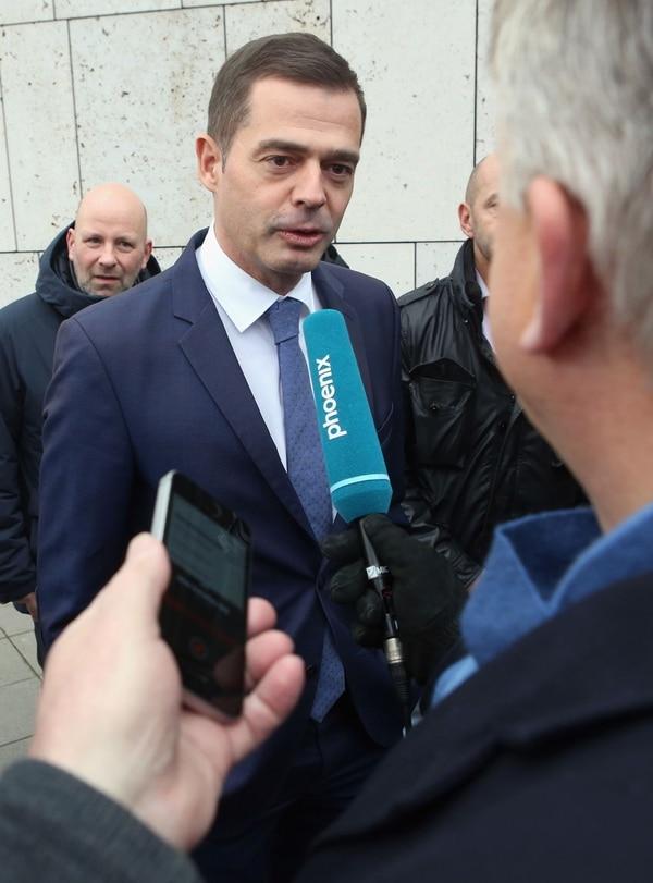 Mike Mohring , jefe del grupo parlamentario de la CDU en Turingia, acudió el viernes 7 de febrero del 2020 a una reunión de su partido en Berlín.