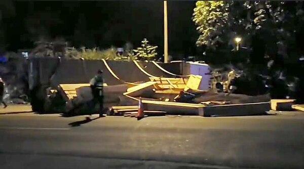El accidente se registró la madrugada de este sábado. Foto: Shirley Vásquez
