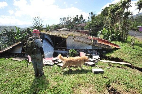 El 8 de enero del 2009 en Cinchona, Alajuela, un terremoto causó gran destrucción en varios puntos del territorio. Foto: Archivo/Alexánder Otárola.