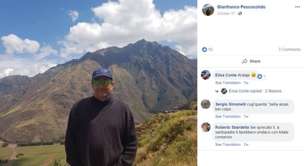Gianfranco Pescosolido falleció este miércoles luego de ser víctima de un asalto fallido dentro del Parque Metropolitano La Sabana. Foto: Tomada de Facebook