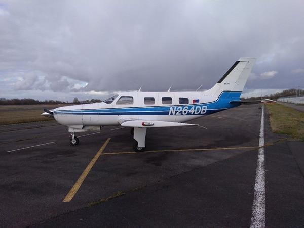 La fotografía muestra el avión Piper Malibu, N264DB, que se estrelló en el Canal de la Mancha con el futbolista Emiliano Sala y el piloto David Ibbotson en ruta hacia Cardiff, en el sur de Gales.