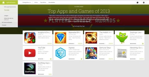 Los usuarios de la tienda en línea para dispositivos Android votaron para seleccionar las mejores aplicaciones que los acompañaron durante este 2013. En total se recibieron cerca de un millón de votos. | GOOGLE PLAY PARA LN