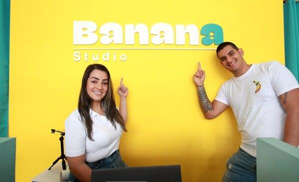 Fernanda Saborío y Andrés Torres, propietarios de Banana Studio. Fotografía: John Durán