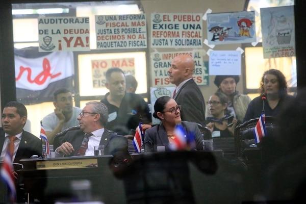 Asamblea Legislativa. Primer debate de la reforma fiscal en el Congreso, votación de mociones. Foto: Rafael Pacheco.