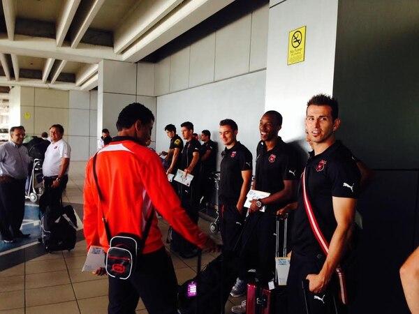 Alajuelense llegó este miércoles a Panamá para el juego ante el Árabe Unido.