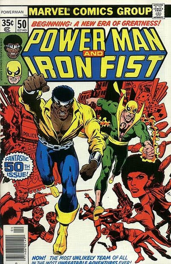 Luke Cage y Iron Fist compartieron 125 portadas de cómics.