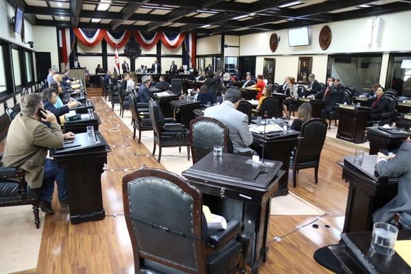 Plenario de la Asamblea Legislativa este martes 19 de mayo, día en que se desechó discutir una moción sobre matrimonio igualitario. Foto: Asamblea Legislativa para LN