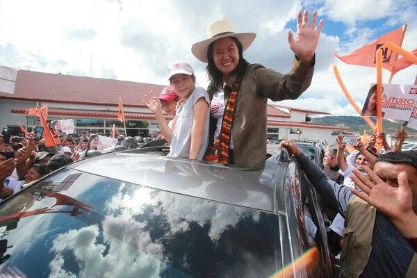 La candidata de Fuerza Popular, Keiko Fujimori, se reunió este domingo con pobladores de Cajabamba en Cajamarca, Perú. | EL COMERCIO