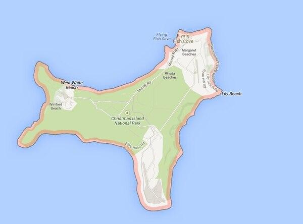 Ubicación de la Isla australiana de Navidad.