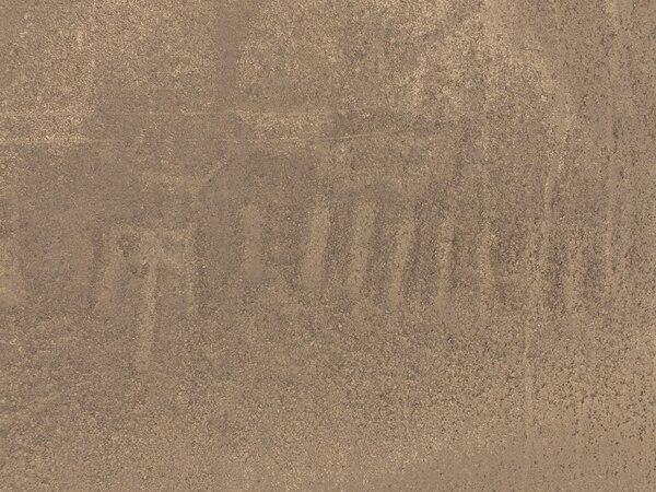Esta es la imagen del nuevo geoglifo descubierto en Nazca. Los científicos aun no han podido descifrar qué figura es.