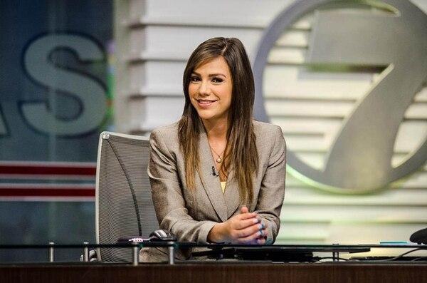 Alfaro entró a Telenoticias en el 2007.   CORTESÍA LUIS ALVARADO/ LA NACIÓN