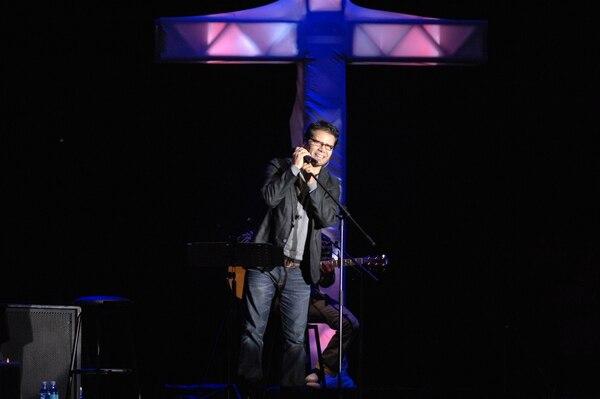 El cantante Jesús Adrián Romero se presentó en el 2010.