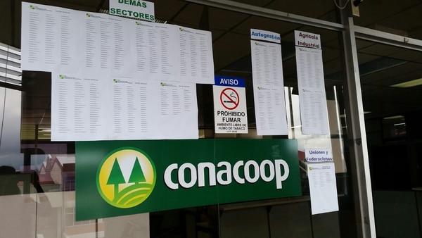 Padrón de elecciones lo elabora el Conacoop a partir de la clasificación que envía el Infocoop.