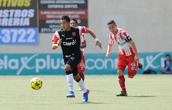 Bryan Jiménez fue de los puntos altos de Alajuelense en Guápiles, aunque no anotó.