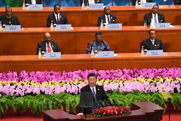 Xi Jinping, presidente de China, se dirigió este lunes 3 de setiembre del 2018 ante el Foro de Cooperación África-China, en Pekín.