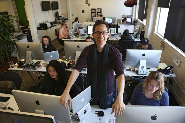 Joshua Reeves, jefe ejecutivo de ZenPayroll, busca más que dinero de sus inversionistas ángeles.. | JIM WILSON/THE NEW YORK TIMES