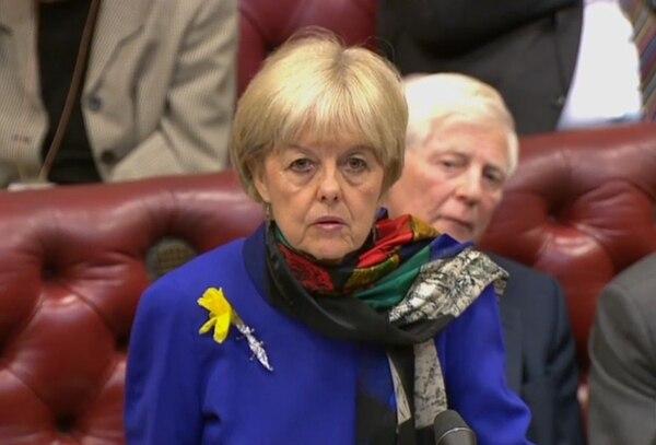 La laborista Dianne Hayter habló este miércoles ante la Cámara de los Lores en Londres.