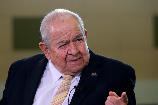La última entrevista que Javier Rojas González dio, fue en marzo de este 2018 para la sección Diálogos de Nacion.com. La entrevista se efectuó en las instalaciones de GN Medios en Tibás. Fotografía: Mayela López.