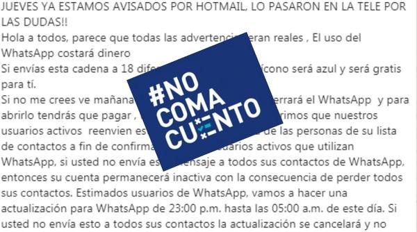 Falso rumor de cobro de WhatsApp y pérdida de contactos circula en redes. Fotografía: Reproducción.