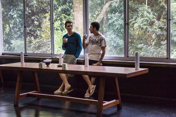 Dos estudiantes del Instituto Nacional de Matemáticas Puras y Aplicadas. | ANA CAROLINA FERNANDES/THE NEW YORK TIMES