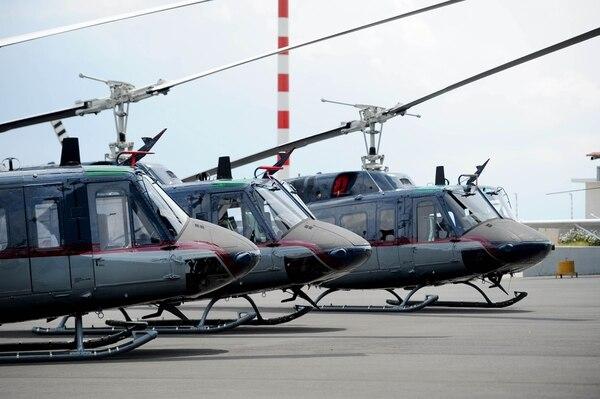 09/04/2018. Alajuela, Base 2, Aeropuerto Juan Santamaría. Cuatro helicópteros UH-1ST fueron donados por el Gobierno de los Estados Unidos para el combate al narcotráfico y labores de rescate. Fotos Melissa Fernández