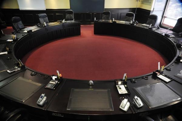 Sala de sesiones de la Directiva de la entidad bancaria. | ARCHIVO
