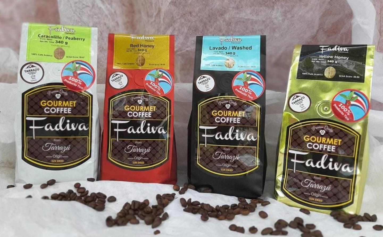 Fadiva es una marca familiar registrada como pequeña y mediana empresa (pyme), que usa el sello de origen Tarrazú por cumplir con todos los requisitos. Se vende en la cadena Walmart. Foto: Cortesía