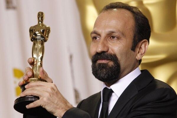 Asghar Farhadi cuando recibió el Oscar por 'A separation', en el 2012.