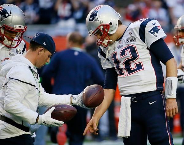 Tom Brady previo al Super Bowl de este año contra los Seahawks de Seattle.