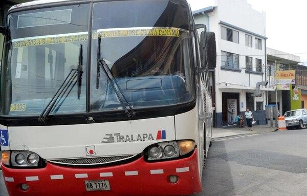 La empresa Tralapa tiene terminal en San José centro. | ALONSO TENORIO.