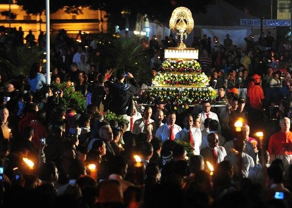 El año anterior tampoco hubo permiso de acampar en la plaza de la basílica. | RAFAEL PACHECO/ARCHIVO.