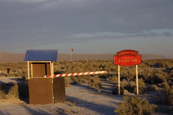 """Así se ve el ingreso a Zaqistán, según el sitio web de la """"nación soverana""""."""