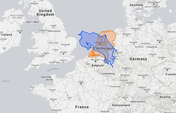 Comparación superficial entre Costa Rica y Países Bajos.