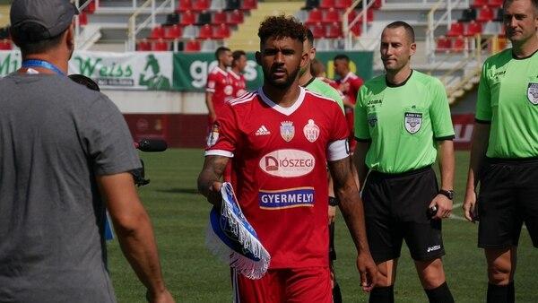 Dylan Flores en figura del Sepsi, en Rumania. Desde que llegó marcó diferencia con sus goles. Luego se convirtió, incluso, en el capitán. Fotografía: Cortesía Sepsi