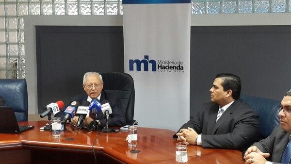 El Ministro de Hacienda Helios Fallas anuncia el