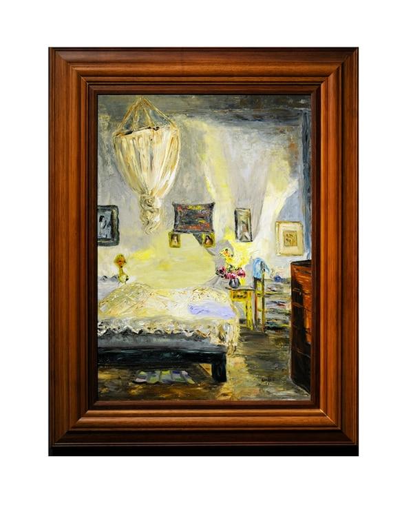 3. Dormitorio (1958), óleo sobre tela de Flora Luján.