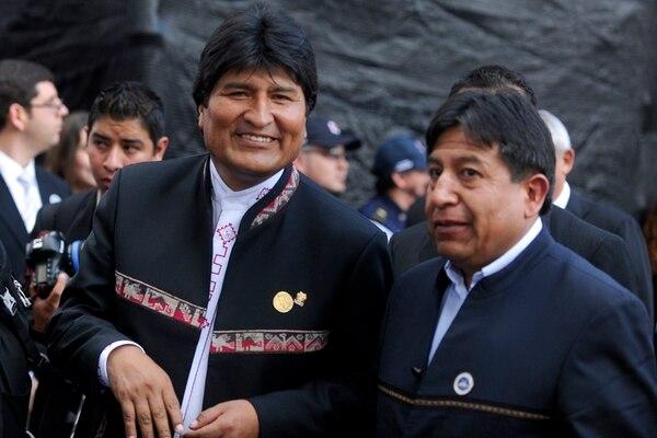 Juan Evo Morales Ayma, de 54 años, ayer en el traspaso. | LUIS NAVARRO K.