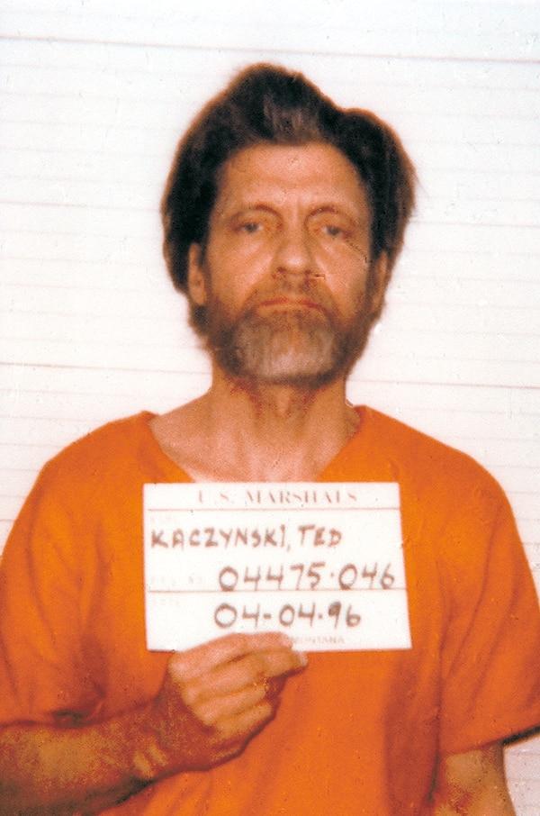 """Theodore Kaczynski, el """"Unabomber""""."""