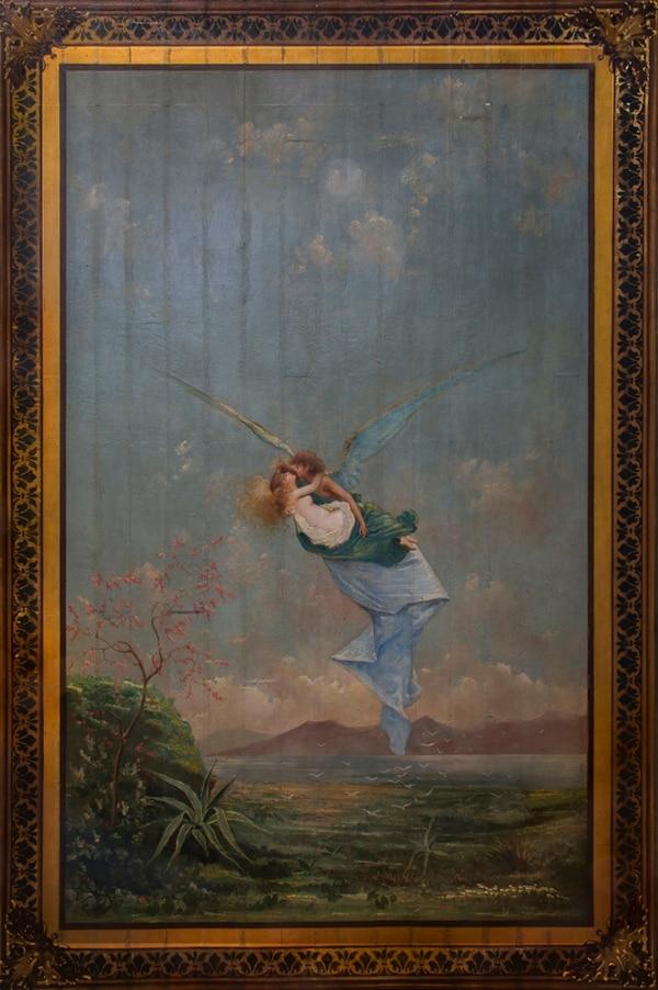 La pintura Eros y la Psique , de Paolo Serra, es propiedad del Teatro Nacional de Costa Rica. Esta imagen solo se puede usar con autorización de la fotógrafa o el teatro.