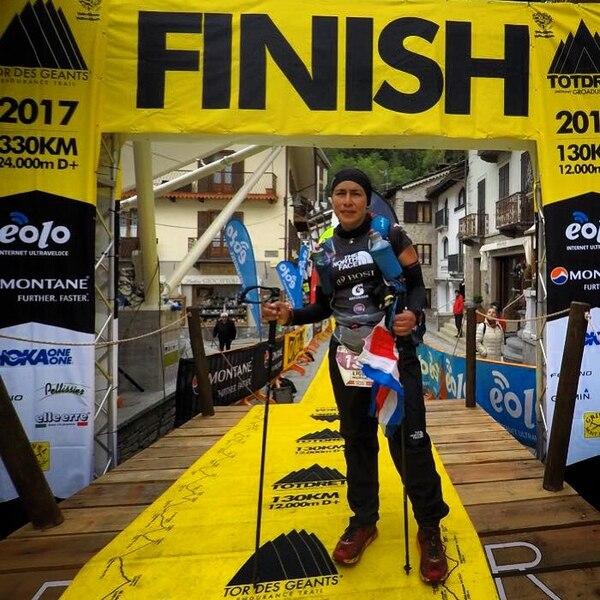 A sus 46 años, Ligia Madrigal se aventura a menudo en competencias de distancias largas en las cuales puede competir con ella misma dentro de la montaña. Esa es su verdadera pasión. Foto: Cortesía Ligia Madrigal