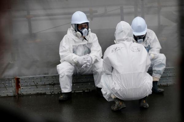 Trabajadores en la planta de Fukushima Daiichi