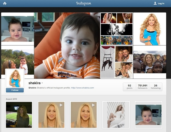 Shakira en Instagram