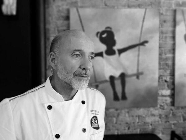 Un día, el chef Orvieto decidió volar en el mundo de la alta gastronomía. Foto: Osvaldo Calderón