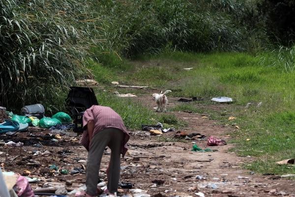 En Guararí se observaban lotes con maleza de gran altura. Vecinos afirman que ahí se consumen y venden drogas. Foto Alonso Tenorio