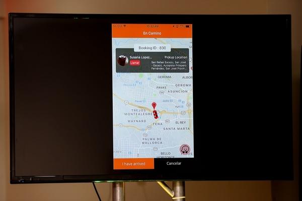 Taxi Shake permite a los usuarios conocer la ubicación exacta del conductor. Fotos: Marcela Bertozzi /Agencia Ojo por Ojo