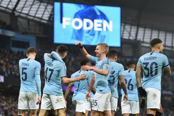 Manchester City no tuvo piedad del Rotherham United de la segunda división y lo goleó 7-0 en la tercera ronda de la FA Cup. Fotografía: Oli Scarff / AFP.