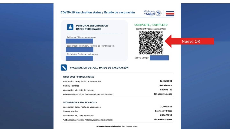 A partir del primero de diciembre será obligatorio mostrar el código QR de certificado de vacunación covid-19 completo en diferentes establecimientos del país