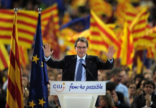 Artur Mas, actual presidente de Cataluña, se mantiene firme en su determinación de organizar un referendo sobre el futuro estatus de la región.